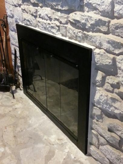 Pleasant Hearth Ascot Large Glass Fireplace Doors AT-1002 at The Home Depot - Mobile