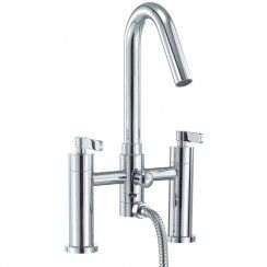 Astini Stic Chrome High Spout Bath Shower Mixer Tap & Shower Kit Astc025