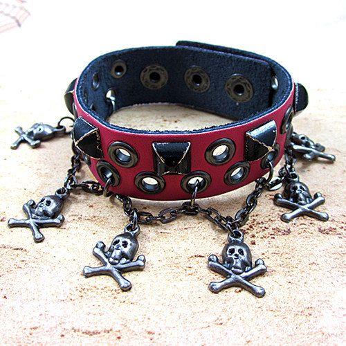 punk rock bracelet man bracelet women by jewelrybraceletcuff, $8.50