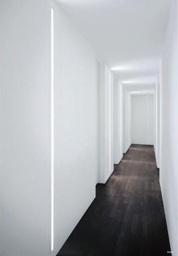 Slot Recessed Wall Light modern wall sconces. Cool White Lumilum LED Strip Lights