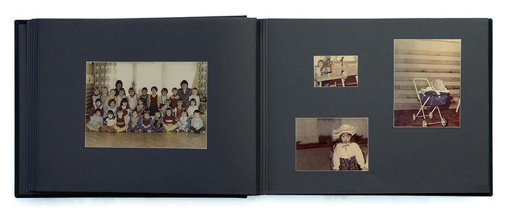 """""""Album"""" by Aneta Grzeszykowska contains over two hundred family photographs from which the artist removed herself."""
