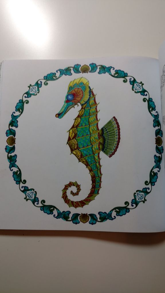 Seahorse From Johanna Basford Lost Ocean Using Prisma