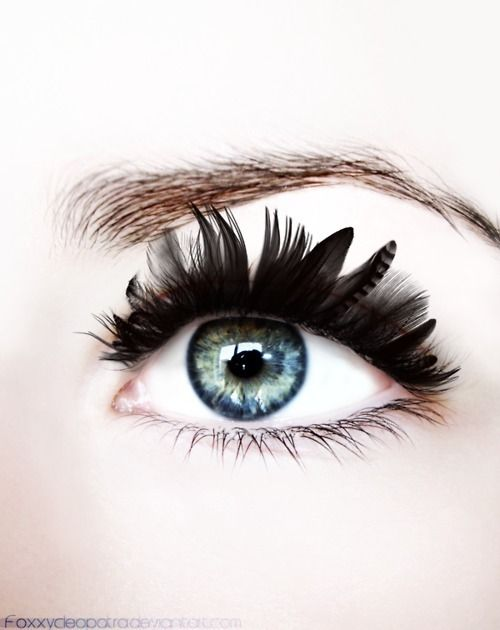 Feather lashes!  ❤d by http://makeupartistrycairns.com.au  #makeup