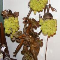 Julien Causse Bronze Sculpture Grape Lamp antique appraisal | InstAppraisal
