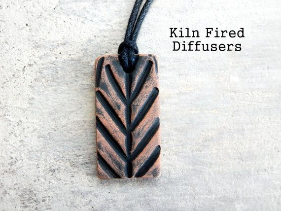 Tribal Diffuser Necklace Clay Aromatherapy by KilnFiredDiffusers