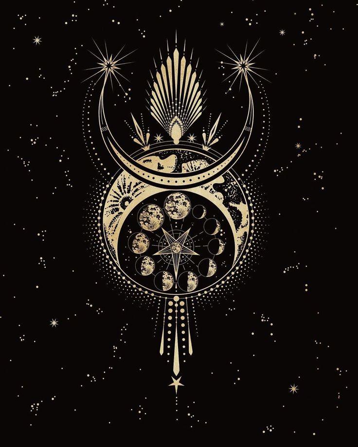 """Cocorrina & Co auf Instagram: """"Der Mond des Teufels vom Oracle-Deck, das ich entwerfe. . Ursprünglich inspiriert von einer meiner Musen kristina bazan und h …"""