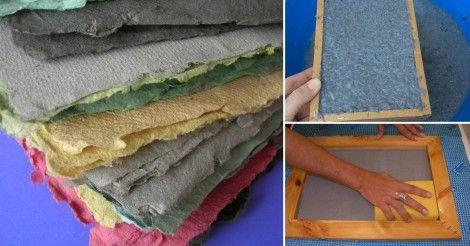 Aprende esta sencilla técnica para hacer papel reciclado en tu hogar y así aprovechar trozos de viejos periódicos, hojas y otros papeles que estés pensando en desechar.