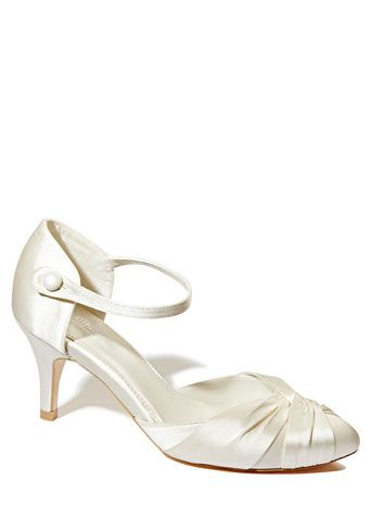 Ivory Wedding Collection Satin Almond Toe Court Shoes