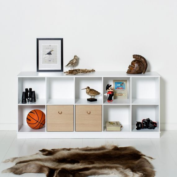 Kids Luxury Storage Bench in White by Oliver Furniture | Diddle Tinkers