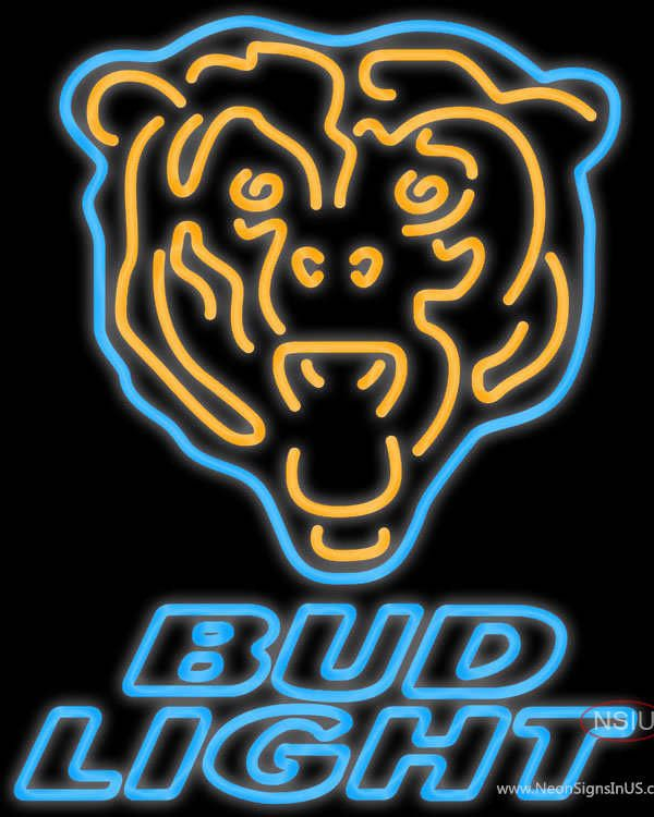 Bud Light Neon Chicago Bears NFL Real Neon Glass Tube Neon Sign,Affordable and durable,Made in USA,if you want to get it ,please click the visit button or go to my website,you can get everything neon from us. based in CA USA, free shipping and 1 year warranty , 24/7 service