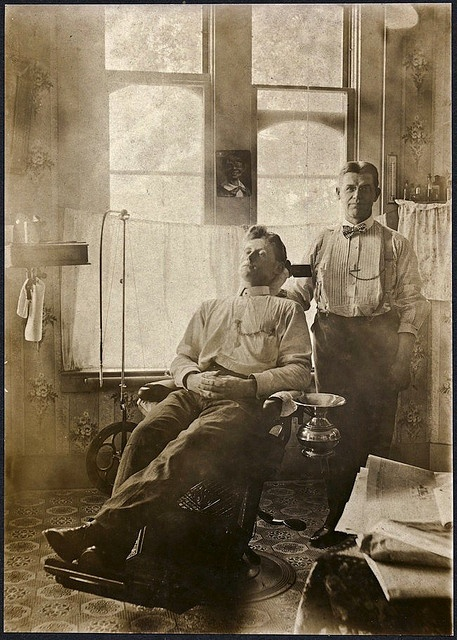 The Dentist and His Patient ... OMG you had to be in REAL pain or REALLY brave back then ...