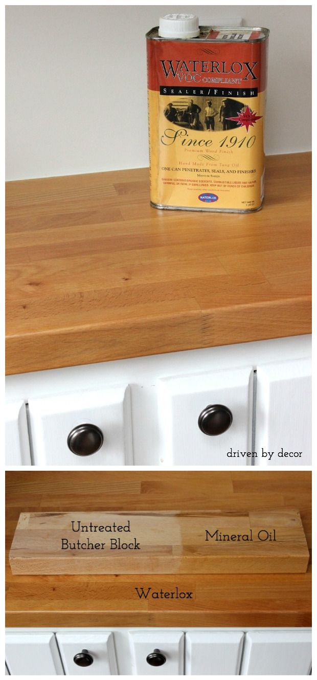 Treating Butcher Block Countertops Waterlox Vs Mineral Oil