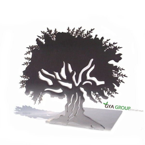 The Olive Tree Bookend, Stainless Steel