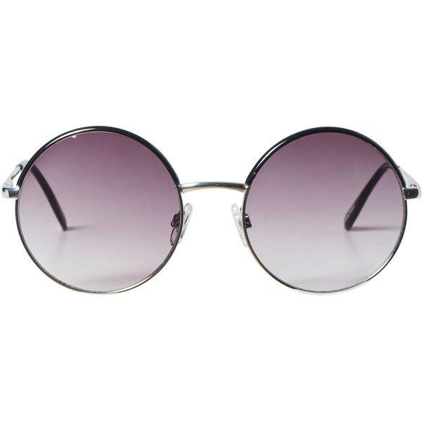 Monki Jill sunglasses found on Polyvore featuring accessories, eyewear, sunglasses, glasses, round tortoiseshell sunglasses, retro glasses, retro style sunglasses, round lens glasses and round glasses