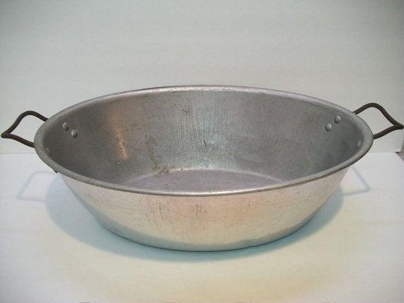 Vintage Aluminum Wash Tub Large Aluminum Tub Wash By
