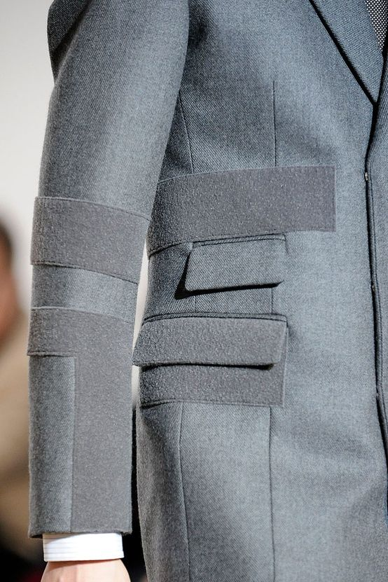 Tailoring. Contrast panel. #tailoring #perfection #grey