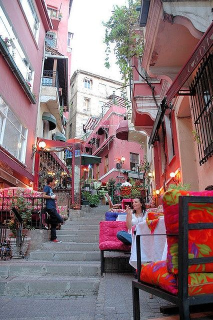 Beyoglu Street. Istanbul, TURKEY   - Explore the World, one Country at a Time. http://TravelNerdNici.com