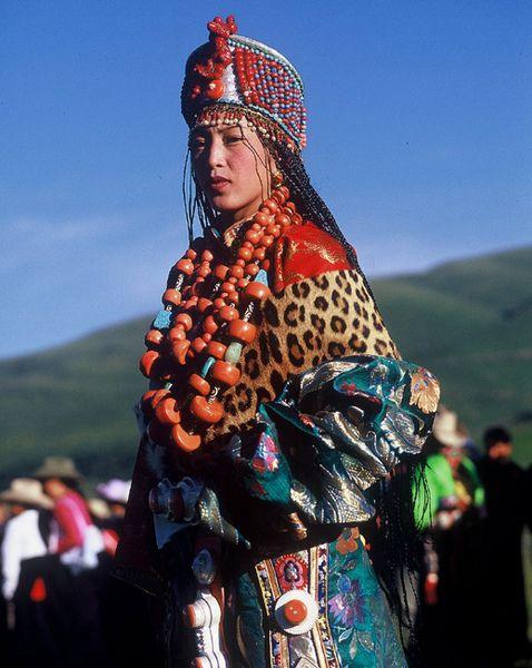 Amdo style of Tibetan Ceremonial Dress