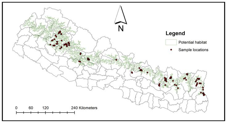 Sampling locations of red pandas for gastrointestinal study of the species.