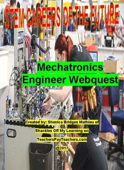 Many student dont major in engineering because they dont have a true concept of all of the different types engineering careers there are.  This activity in my STEM (Science, Technology, Engineering and Math) Careers of the Future series explores a career as a Mechatronics Engineer.