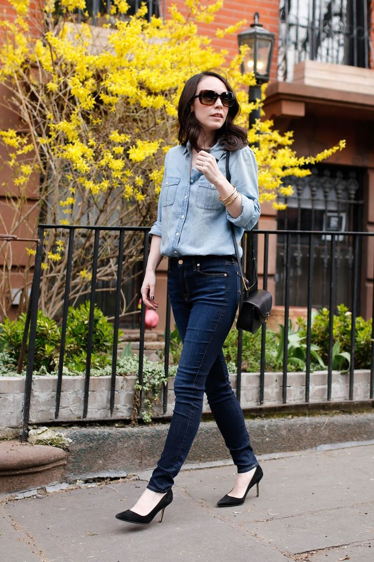 The 25+ best Chambray top ideas on Pinterest | Summer putfit, Blue ...