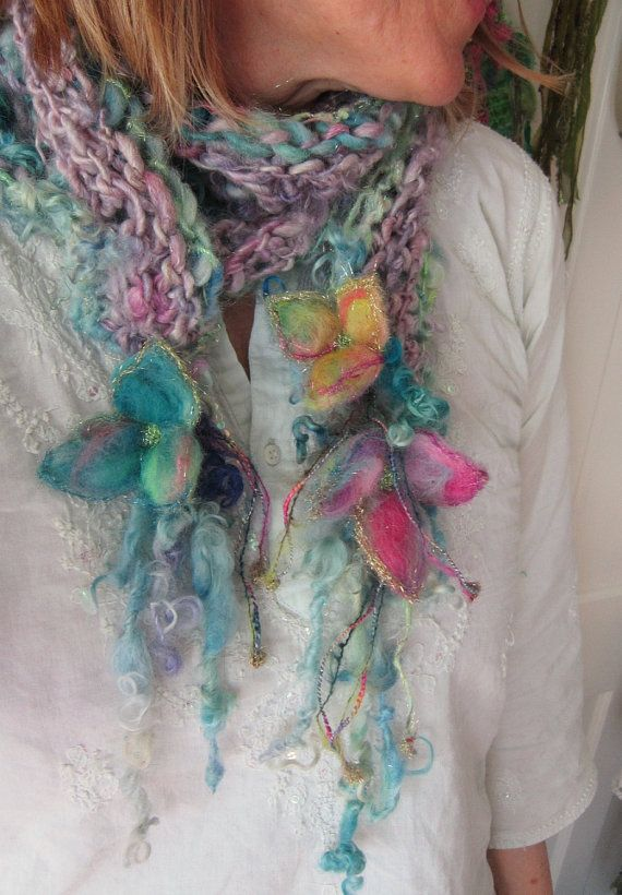 soft+sparkling+and+rustic+handknit+scarf++by+beautifulplace,+$63.00