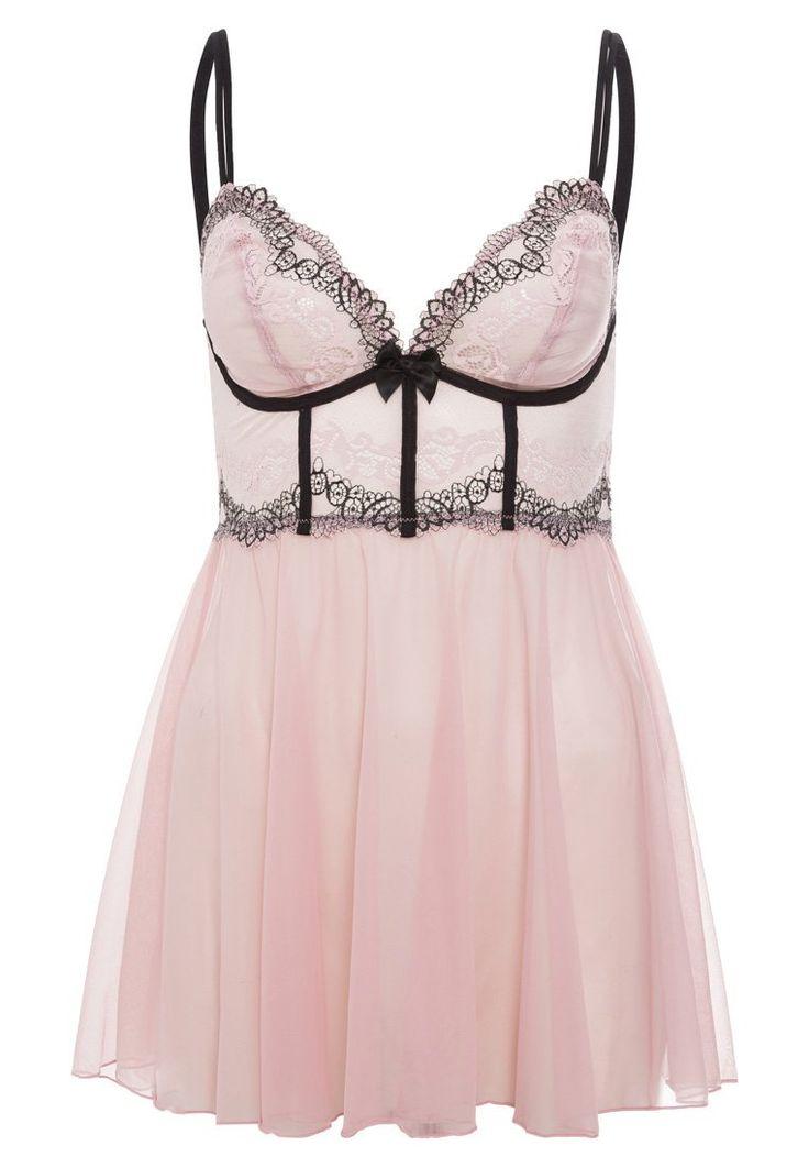 DKNY Intimates - SEDUCTIVE LIGHTS - Nachthemd - hush pink/black
