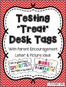 32 End of Year Encouragement Testing Tags for Students!  *Available in the PDF download and as PNG images.  You can use these tags for daily desk treats for students taking end of grade tests. Many tags can be used attached to candy/snacks/pencils, or you can use them alone! http://www.teacherspayteachers.com/Store/Kim-Miller-24