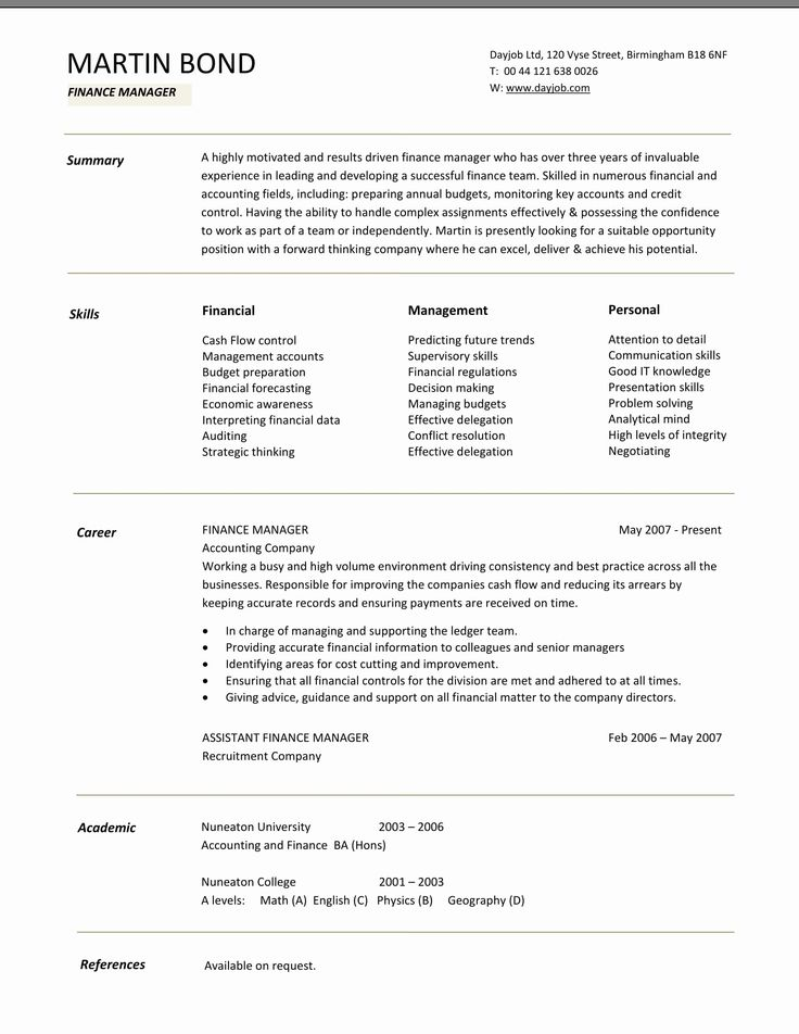 Finance Resume Template Word Beautiful 24 Best Finance