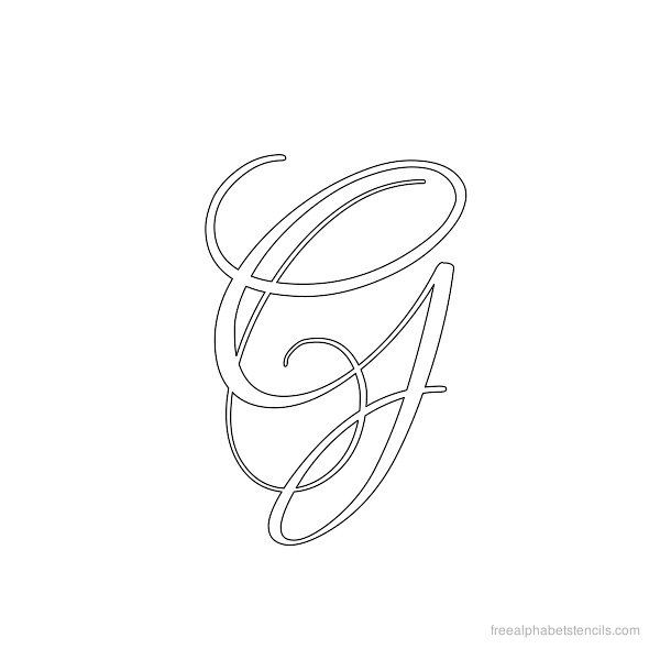 Lettering Templates For Quilting : Calligraphy Alphabet Stencil G Letter G Pinterest Calligraphy alphabet, Stenciling and ...