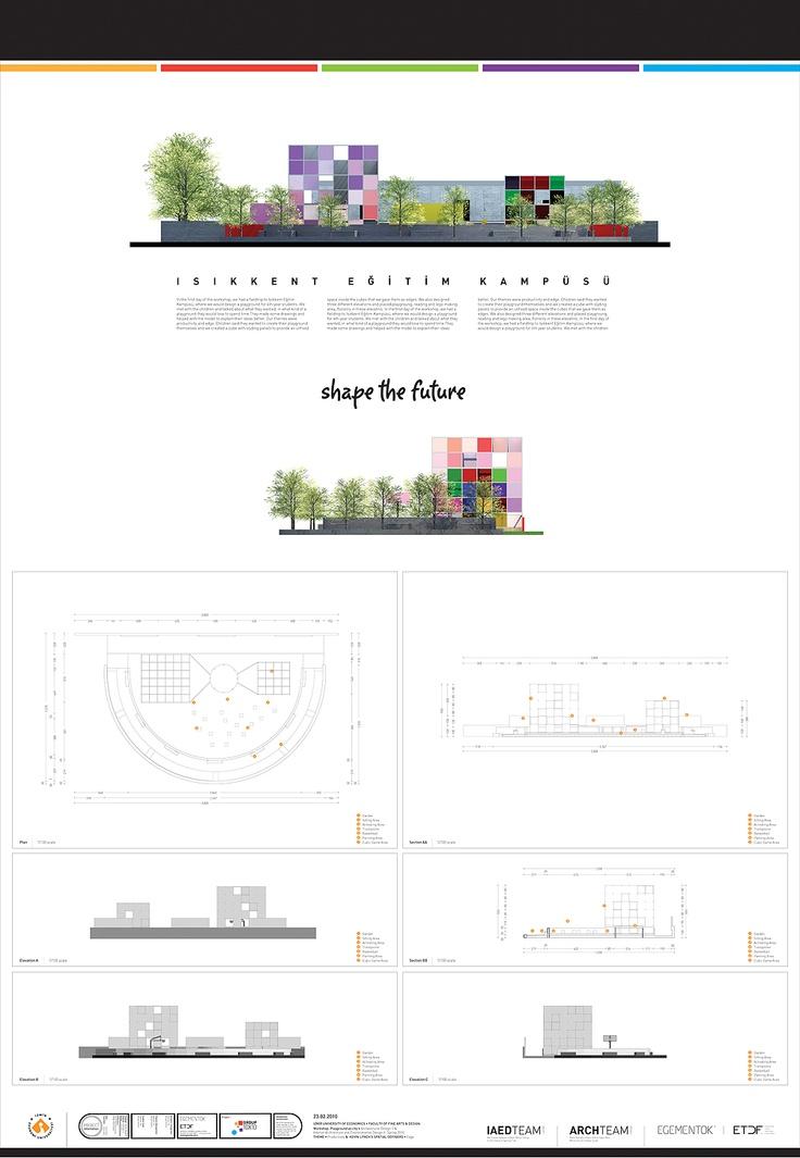 ışıkkent eğitim kampüsü için hazırlanan proje teknik çizim & detayları için sunum forex tasarımı & uygulaması.