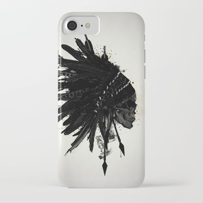 #indian #skull #war #warrior #bonnet #warbonnet #feather #spiritual #arrows #spatter #ink #native #american #iphone #case #smartphone