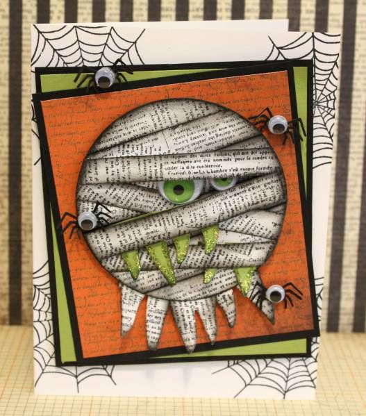 DIY card idea for halloween ... mummies ... who comes up with this clever stuff? Love it!