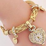 Women's Bracelet Watch Fashion Watch Wrist watch Quartz Imitation Diamond Punk Colorful PU Band Charm Sparkle Vintage Casual Eiffel Tower 2018 - $5.99