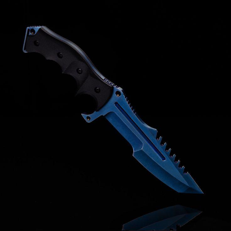 HIMMELSSCHMIEDE Jagdmesser Fahrtenmesser HUNTSMAN BLUE STEEL CS Messer Knife GO in Sport, Camping & Outdoor, Werkzeug | eBay