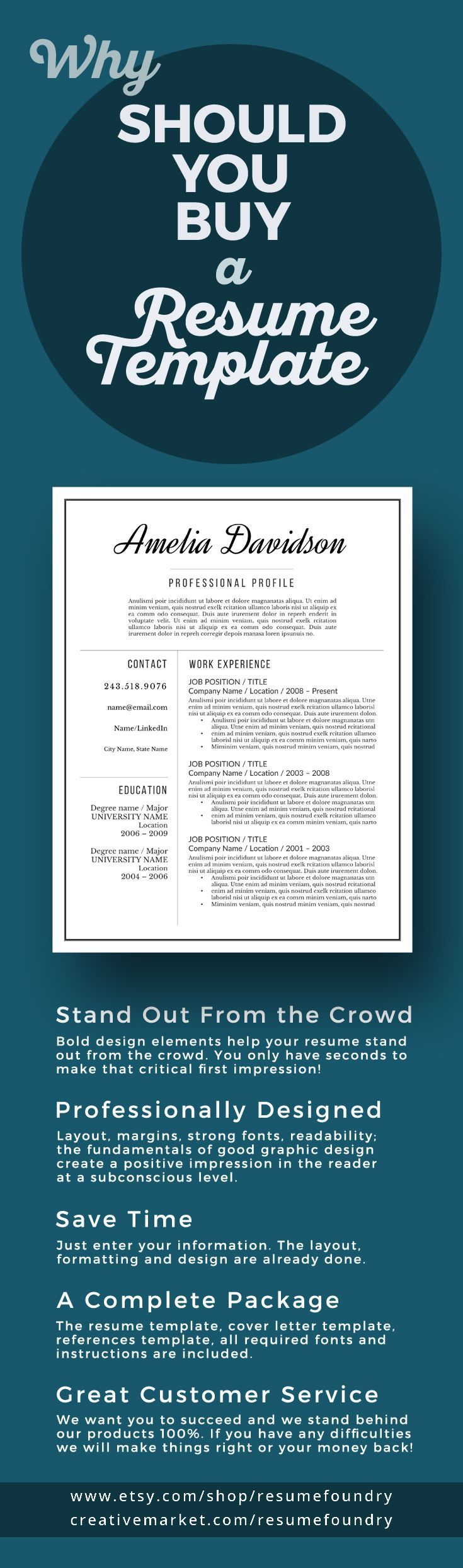Professional Resume Template for Word 1 3 Page