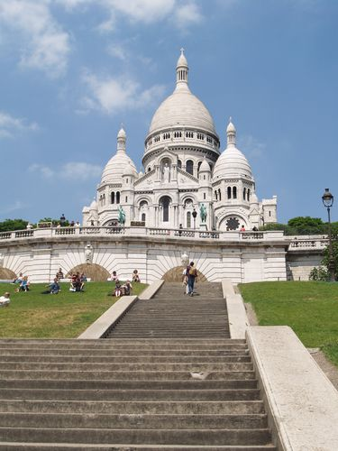 Sacre Coeur  -  Paris, France. Taking pics from the main spire is an awesome experience!