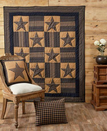 Teton Star Quilted Throw – Primitive Star Quilt Shop