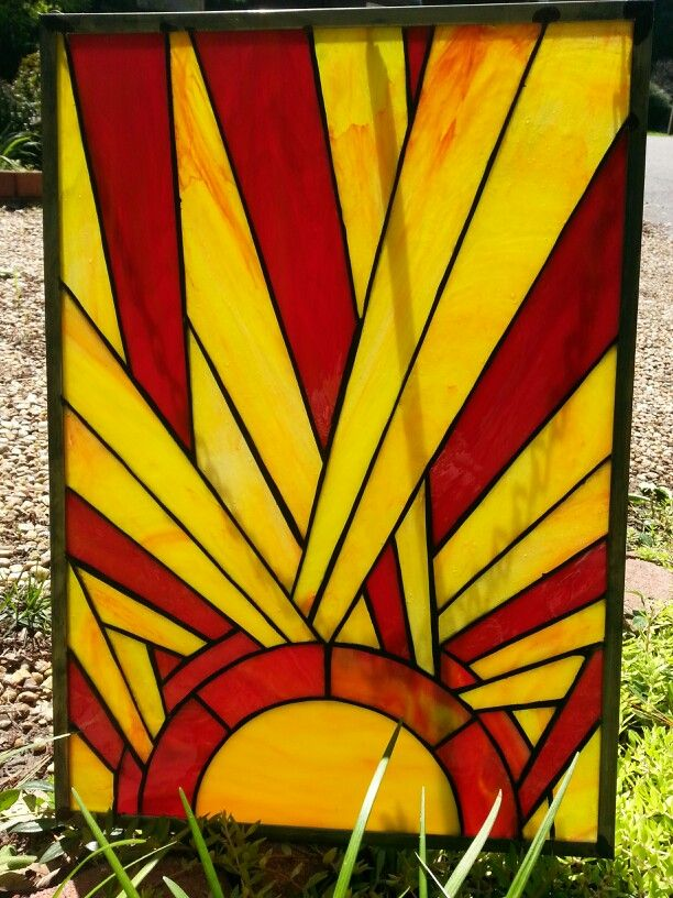1000 Images About Stained Glass Deco Sunburst On