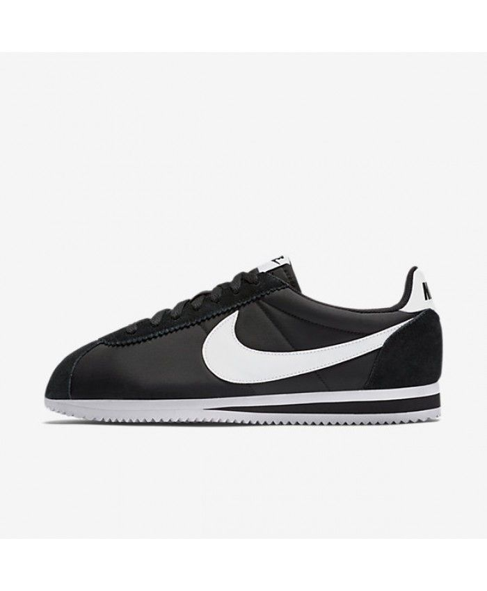 promo code 03dd2 12391 Mens Nike Classic Cortez Nylon Black White