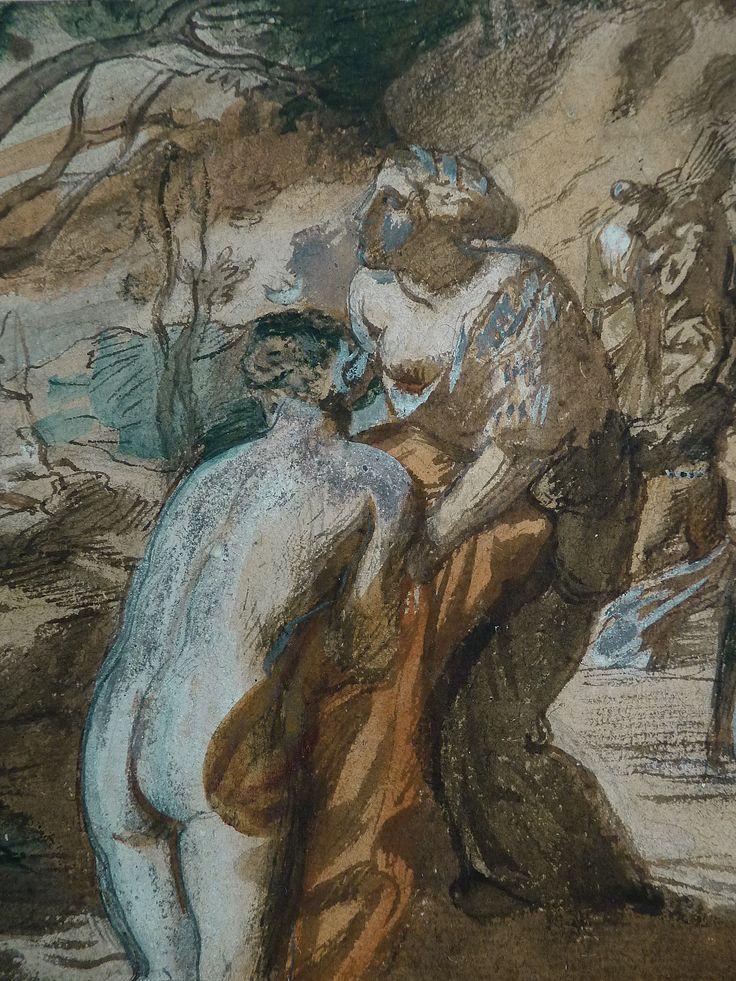 CHASSERIAU Théodore,1840 - Diane et Actéon, Etude - Détail 09