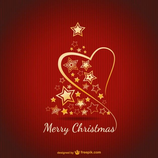 Merry Christmas card with golden ornaments | Free Vector | Background, design, inspiration