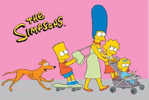 Fun Rugs SIM-012 3958 Simpsons Walk N Roll Pink Childrens Rug, 39-Inch by 58-Inch