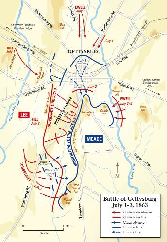 Battle Of Gettysburg Summary On Pinterest History Of Statistics - Gettysburg us map