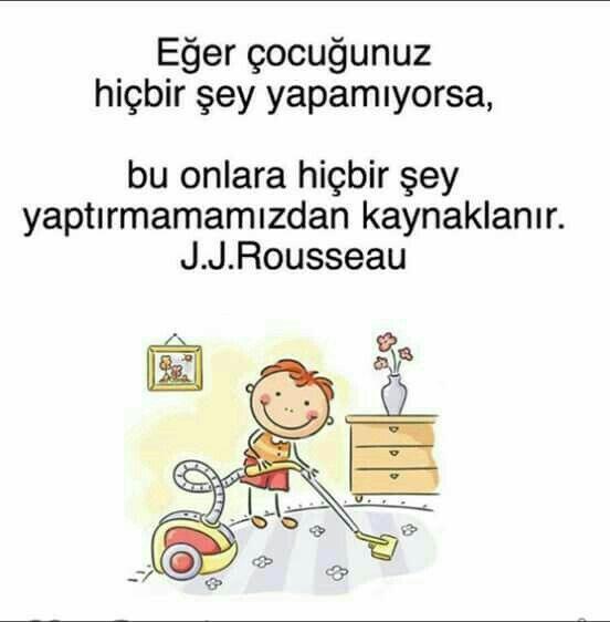 ✔Əgər uşağınız heç bir şey edə bilmirsə, bu onlara heç bir şey etdirməməyinizdən qaynaqlanır. #J_J_Rousseau