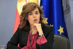 Soraya Sáenz de Santamaría, vicepresidenta del Gobierno y portavoz.