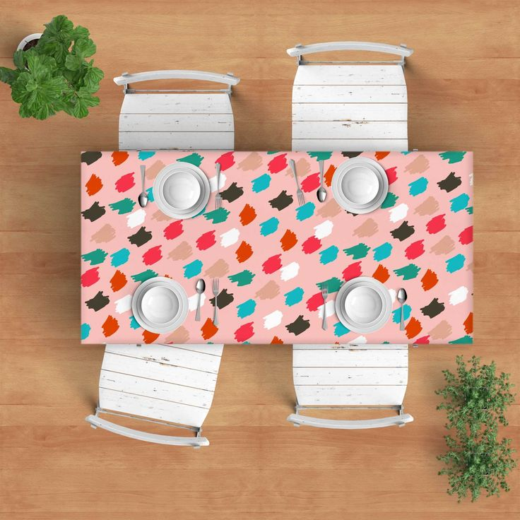 Pink and colors Tablecloth - Modern tablecloth