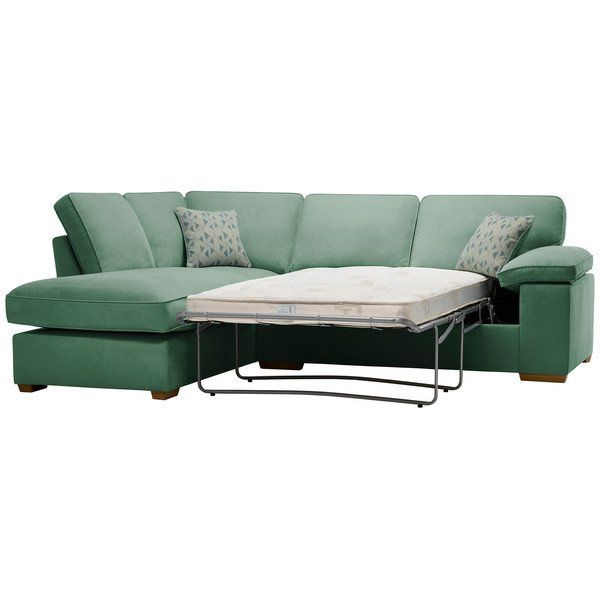 Chelsea Right Hand Corner Sofa Bed In Cosmo Jade Oak Furniture Land Corner Sofa Sofa Bed With Storage