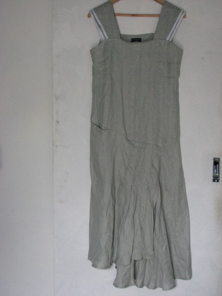 Made In Italy Gorgeous Pepito 39 S Pure Linen Asymmetrical Dress Size M As New In Clothing Shoes
