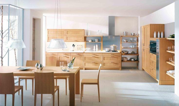 cuisine-chene-massif-cuisine-bois Cuisine Pinterest Future - hotte integree dans meuble haut